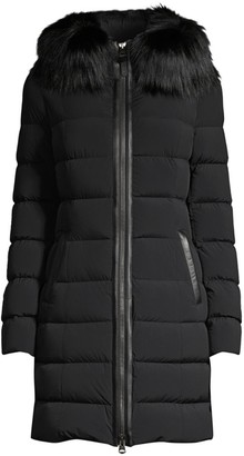 Mackage Calla Silverfox Fur-Trim Puffer Down Jacket