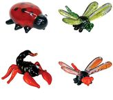 Looking Glass 4-pk. Lady Bug, Dragon Fly & Scorpion Mini Figurines