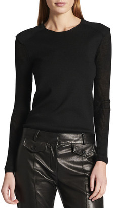 Tom Ford Cashmere-Silk Sheer-Back Sweater