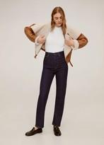 MANGO Bead shoulder sweater off white - S - Women