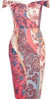 River Island Womens RI Plus pink floral print bardot dress