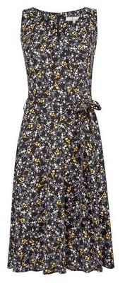 Dorothy Perkins Womens **Billie & Blossom Tall Black Ditsy Print Dress, Black