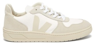 Veja V-10 B-mesh Low-top Suede Trainers - Womens - White