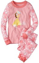 Kids Disney Princess Long John Pajamas In Organic Cotton