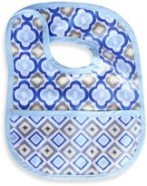 Caden Lane Mod/Diamond Reversible Coated Bib in Blue