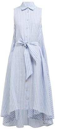 Palmer Harding Palmer//Harding Palmer//harding - Sedona Striped Linen Shirtdress - Womens - Blue Stripe