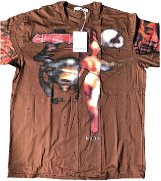Givenchy Brown Cotton T-shirts