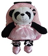Infant Popatu 'Trolley - Ballet Panda' Rolling Backpack - Pink