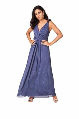 Little Mistress Women's Anais Lavender Grey Ring Detail Maxi Dress Party Purple 001 (Size:12)