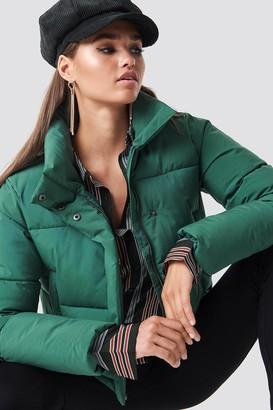 NA-KD Hannalicious X Short Puffy Jacket Green