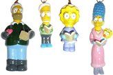 "Kurt Adler 4-Piece Porcelain Boxed Set ""The Simpsons"" Family Christmas Ornaments"