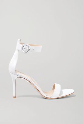 Gianvito Rossi Portofino 85 Leather Sandals - White