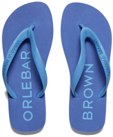 Orlebar Brown Men's Watson Flip Flops Dark Butterfly/Riviera