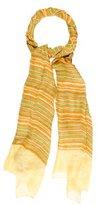 Missoni Linen & Silk-Blend Striped Scarf