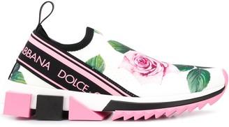 Dolce & Gabbana rose print Sorrento sneakers