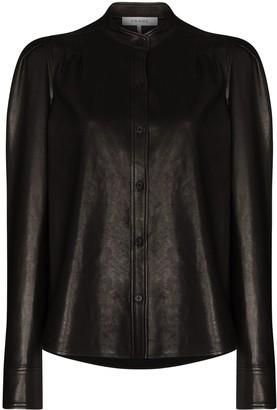 Frame Charlie long-sleeve leather shirt
