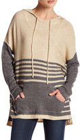 Love Stitch Striped Raglan Sleeve Hoodie