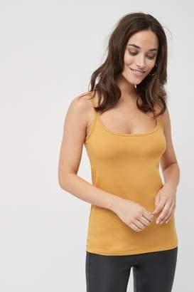 Next Womens Ochre Thin Strap Vest - Yellow
