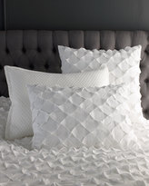 Horchow European Puckered Diamond Sham