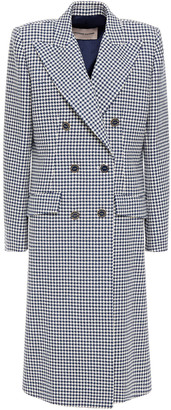 Alexandre Vauthier Double-breasted Houndstooth Cotton-blend Jacquard Coat