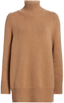 The Row Sadel Cashmere Funnelneck Sweater
