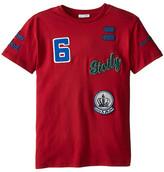 Dolce & Gabbana Embroidered Short Sleeve Baseball T-Shirt (Big Kids)