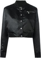 Versus cropped bomber jacket - women - Polyester/Viscose/Spandex/Elastane - 38