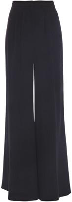 Carolina Herrera Pleated Silk-jersey Wide-leg Pants