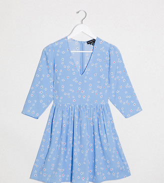 Wednesday's Girl mini smock dress in daisy print