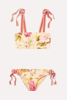 Zimmermann Kids - Honour Floral-print Bikini - Yellow