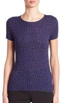 Giorgio Armani Intarsia Wool Short-Sleeve Sweater