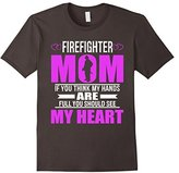 Men's Firefighters Mom Full Heart Mothers Day T-Shirt 2XL