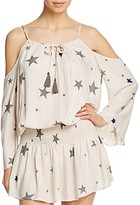 Thumbnail for your product : Surf.Gypsy Star Print Cold-Shoulder Tunic Swim Cover-Up