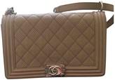 Chanel Boy Beige Leather Handbags