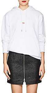 """Helmut Lang Women's """"Taxi"""" Cotton Terry Hoodie - White"""