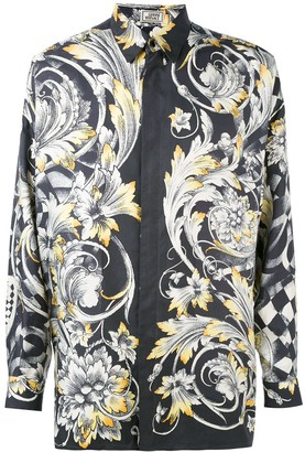Versace Pre Owned Baroque Print Shirt