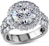 Ice Julie Leah 6 1/4 CT TW Diamond Halo Engagement Ring in 18k White Gold
