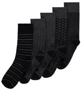 George 5 Pack Feel Fresh Socks