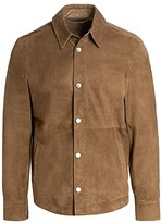 Saks Fifth Avenue Suede Shirt Jacket