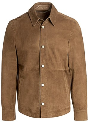 Saks Fifth Avenue COLLECTION Suede Shirt Jacket