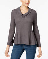 Style&Co. Style & Co Petite Cowl-Neck Waffle-Knit Top, Created for Macy's