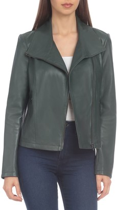 Badgley Mischka Genuine Leather Envelope Jacket