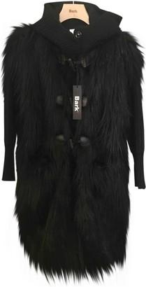 Bark Black Wool Coat for Women