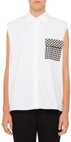 Christopher Kane Cotton Poplin Sleeveless Shirt