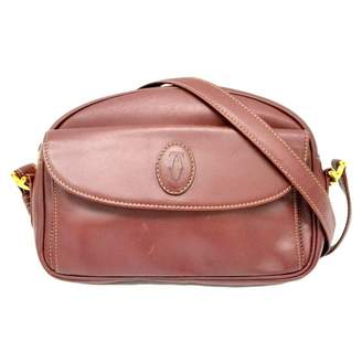 Cartier Burgundy Leather Handbags