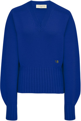 Victoria Beckham Oversized Ribbed Wool-Blend Sweater