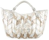 Miu Miu Metallic Quilted Leather Satchel