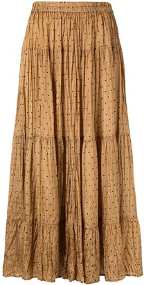 Mes Demoiselles Pleated Polka Dot Skirt