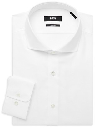 HUGO BOSS Mark Sharp-Fit Textured Dress Shirt