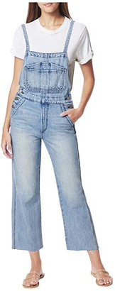 Joe's Jeans Wide Leg Overalls w/ Cut Hem in Captivate (Captivate) Women's Overalls One Piece